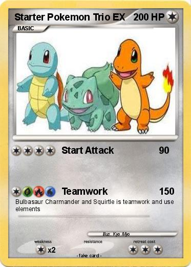 Pok 233 Mon Starter Pokemon Trio Ex Start Attack My