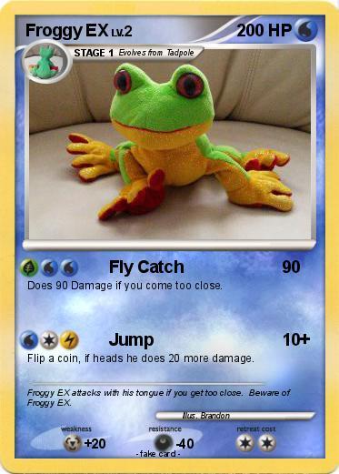pokémon froggy ex fly catch my pokemon card