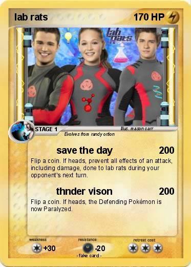 Pokmon lab rats 4 4 save the day My Pokemon Card