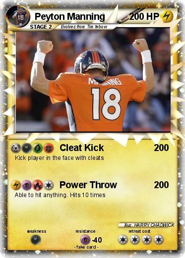 Pokémon Peyton Manning 24 24 - Cleat Kick - My Pokemon Card