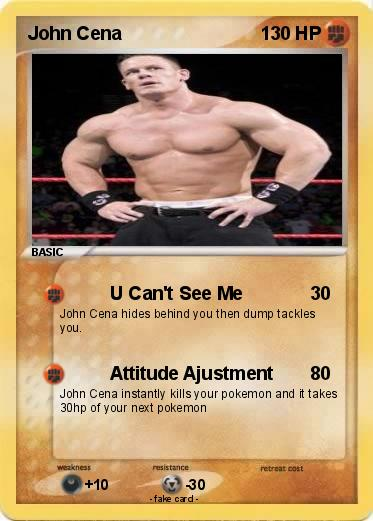 Pokémon John Cena 1091 1091 U Cant See Me My Pokemon Card