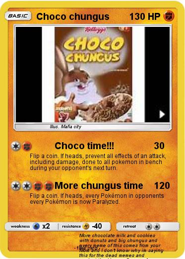Pokemon Choco Chungus Choco Time My Pokemon Card