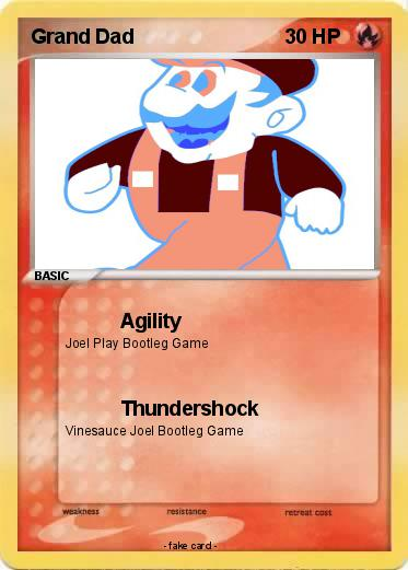 4e4dd05f Pokémon Grand Dad - Agility - My Pokemon Card