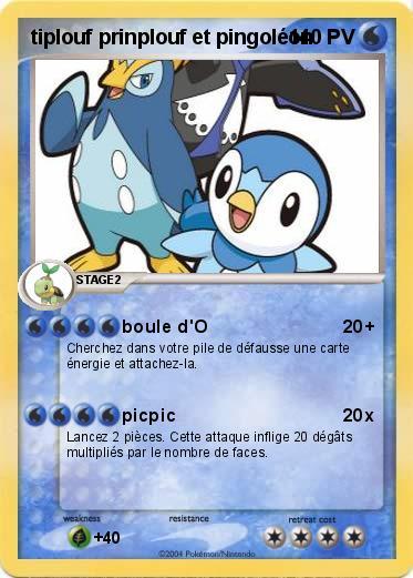 Pok mon tiplouf prinplouf et pingoleon boule d 39 o ma carte pok mon - Pokemon pingoleon ...