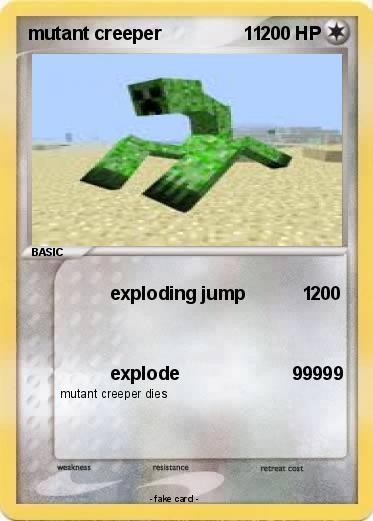 Pok mon mutant creeper 11 1 1 exploding jump 1 my for Minecraft mutant creeper coloring pages