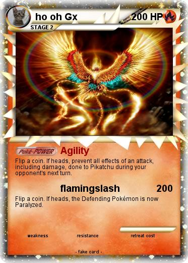 Pokémon ho oh Gx - Agility - My Pokemon Card