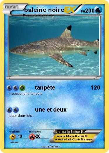 Pok mon baleine noire tanp te ma carte pok mon - Pokemon baleine ...
