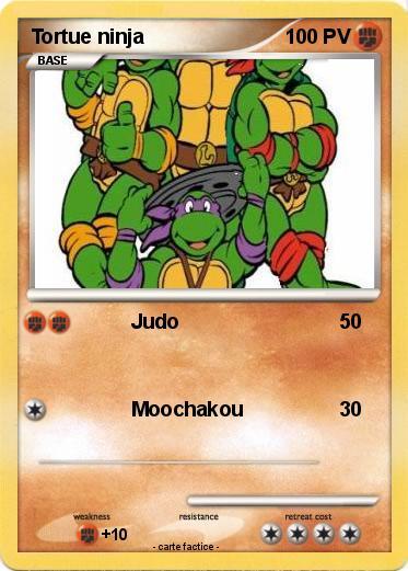Pok mon tortue ninja 3 3 judo ma carte pok mon - Tortue ninja noms ...