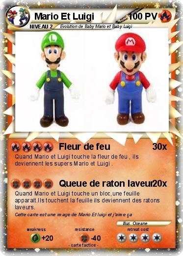 Pokemon Mario Et Luigi 106 106 Fleur De Feu Ma Carte Pokemon