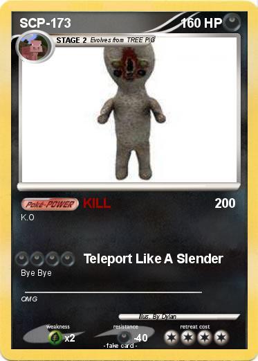 pokémon scp 173 22 22 kill my pokemon card