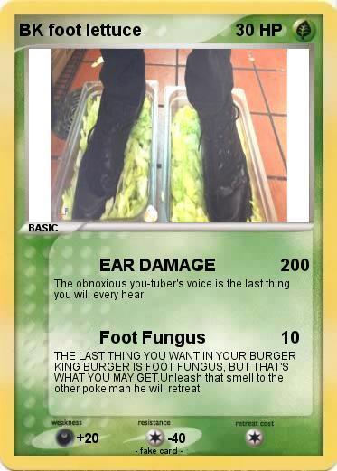 Pokemon Bk Foot Lettuce Ear Damage My Pokemon Card