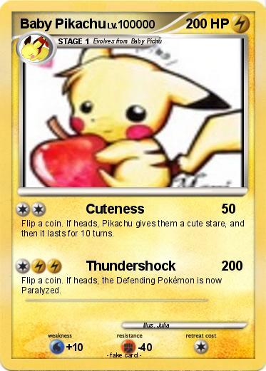Pokemon Baby Pikachu