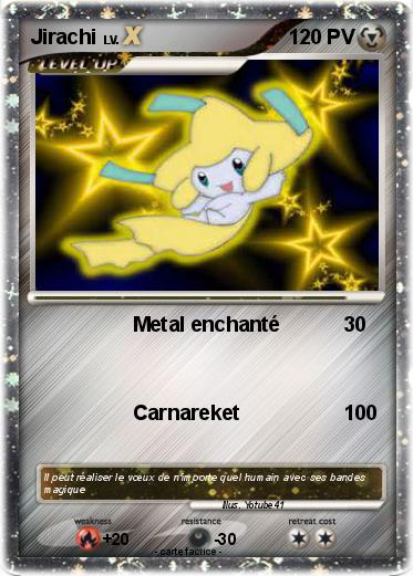 Pok mon jirachi 1162 1162 metal enchant ma carte pok mon - Carte pokemon jirachi ...