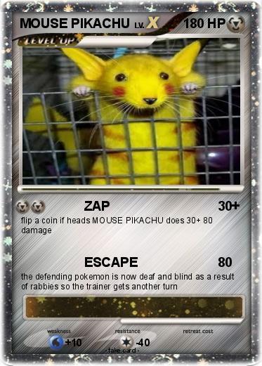 Pok 233 Mon Mouse Pikachu 1 1 Zap My Pokemon Card