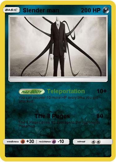 Pokémon Slender man 972 972 - Teleportation - My Pokemon Card