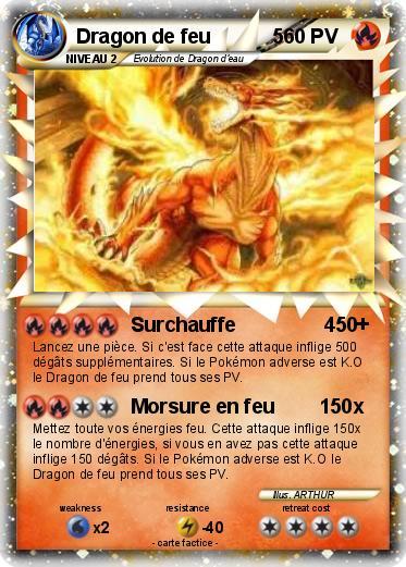 Pok mon dragon de feu 5 5 surchauffe 450 ma carte pok mon - Carte pokemon dragon ...
