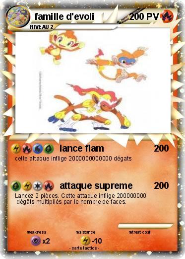 Pok mon famille d evoli 15 15 lance flam ma carte pok mon - Famille evoli pokemon ...
