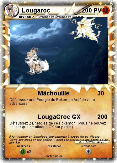 Pok mon lougaroc 18 18 m chouille ma carte pok mon - Carte pokemon coloriage ...