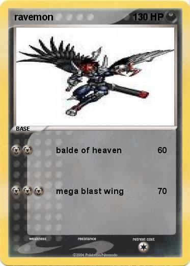 Pokémon ravemon - balde of heaven - My Pokemon Card