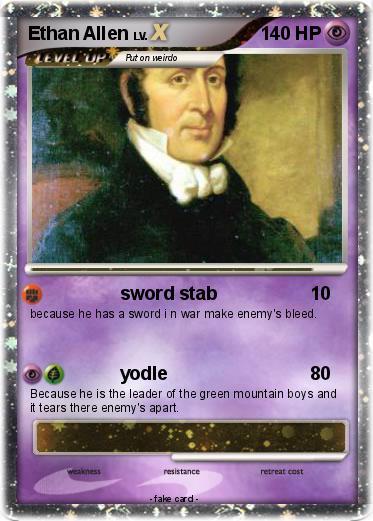 Pokémon Ethan Allen 2 2 - sword stab - My Pokemon Card