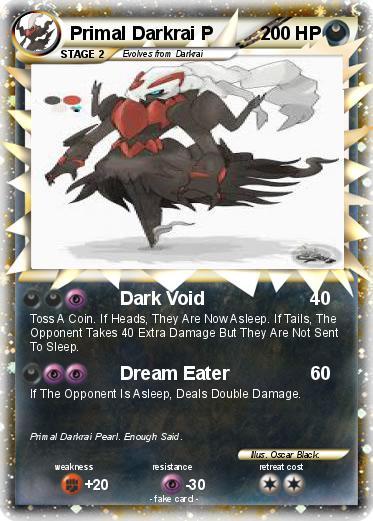 Pokémon Primal Darkrai P - Dark Void - My Pokemon Card