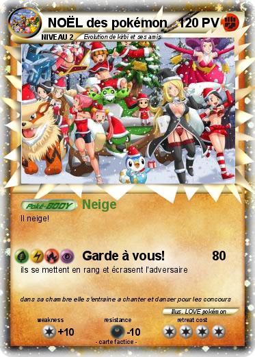 Pokémon NOEL des pokemon - Neige - Ma carte Pokémon