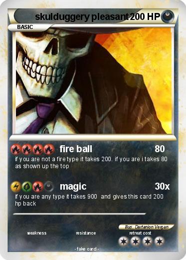 Pokémon skulduggery pleasant 4 4 - fire ball - My Pokemon Card