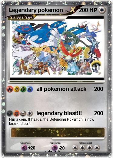 Pokmon Legendary pokemon 81 81  all pokemon attack  My Pokemon Card