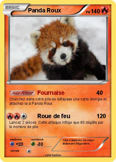 Pok mon panda roux 18 18 fournaise ma carte pok mon - Image de panda a imprimer ...