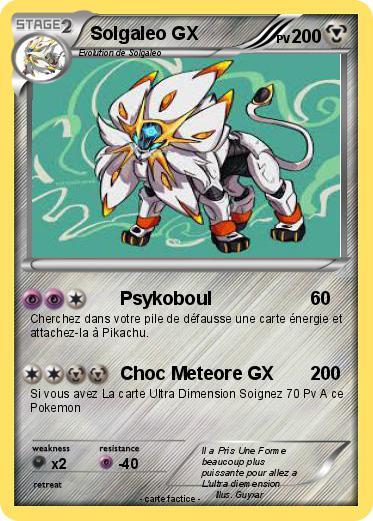Pok mon solgaleo gx 8 8 psykoboul ma carte pok mon - Carte pokemon ex et gx ...