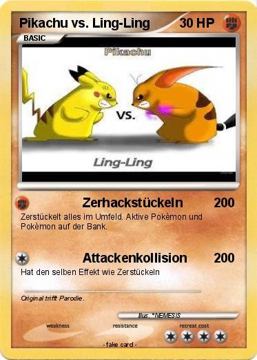 Pokemon Pikachu Vs Ling