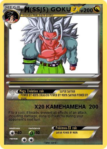 pokémon ssj5 goku 44 44 x20 kamehameha my pokemon card