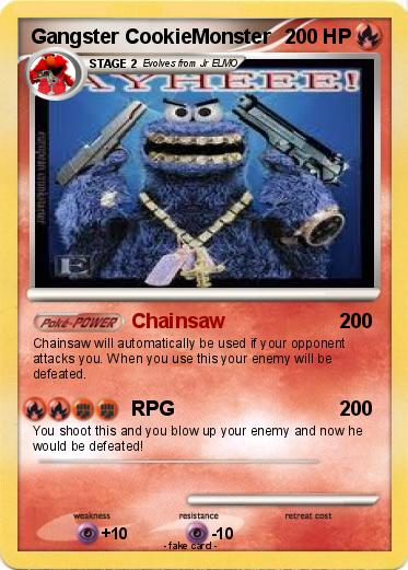 Pokémon Gangster Cookiemonster 5 5 Chainsaw My Pokemon Card