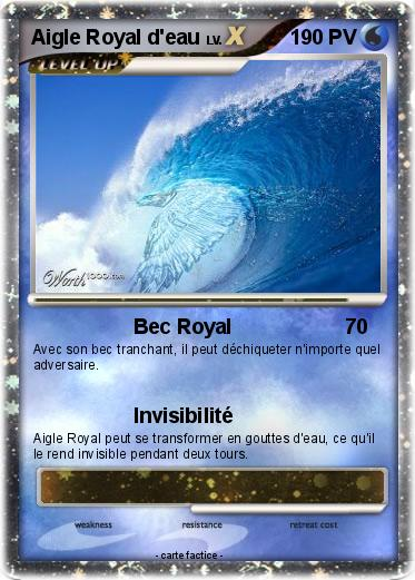 Pok mon aigle royal d eau bec royal ma carte pok mon - Comment dessiner un aigle royal ...