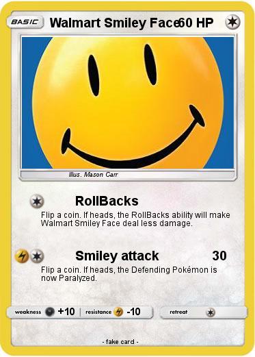 Pokémon Walmart Smiley Face 2 2 Rollbacks My Pokemon Card