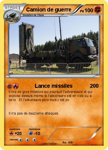 Coloriage Camion Samu.Pokemon Camion De Guerre Lance Missiles Ma Carte Pokemon