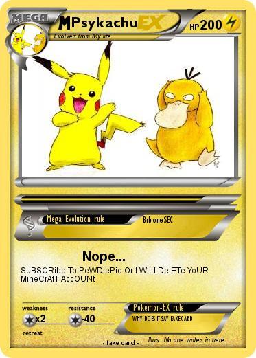 Pokémon Psykachu 25 25 - Nope    - My Pokemon Card