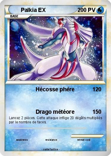 Pok mon palkia ex 100 100 h cosse ph re ma carte pok mon - Coloriage pokemon palkia ...