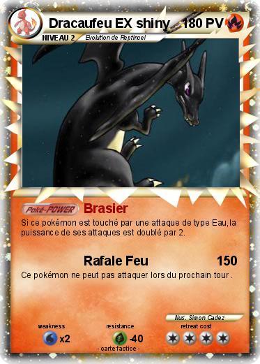 Pok mon dracaufeu ex shiny brasier ma carte pok mon - Pokemon dracaufeu ex ...