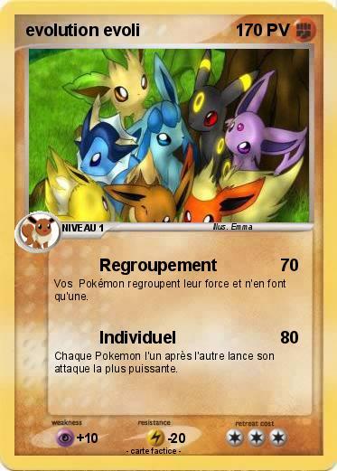 Pok mon evolution evoli 2 2 regroupement ma carte pok mon - Evolution pokemon noir 2 ...