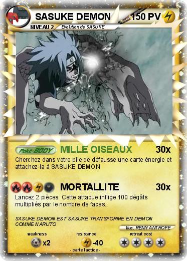 Pok mon sasuke demon 67 67 mille oiseaux ma carte pok mon - Demon de sasuke ...