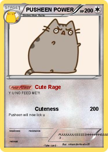 Pokemon PUSHEEN POWER