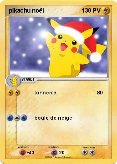 Pokémon pikachu noel 1 1 - tonnerre - Ma carte Pokémon