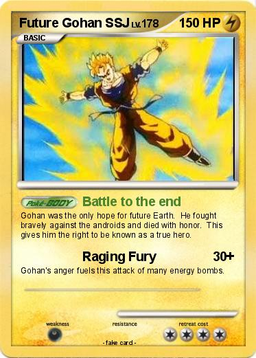 Pokémon Future Gohan Ssj Battle To The End My Pokemon Card
