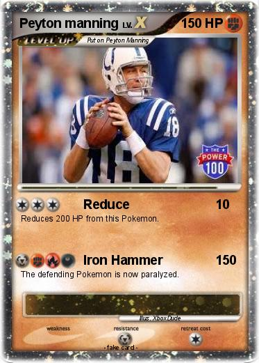 Pokmon Peyton manning 23 23 Reduce My Pokemon Card