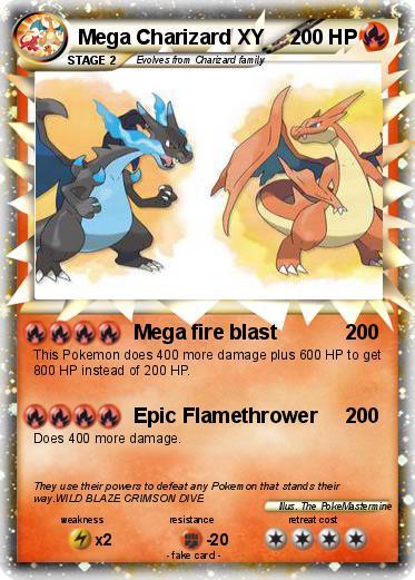 Pok 233 Mon Mega Charizard Xy 5 5 Mega Fire Blast My