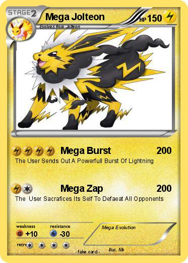 Pokémon Mega Jolteon 18 18 - Mega Burst - My Pokemon Card
