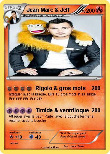 Pok mon jean marc jeff rigolo gros mots ma carte pok mon - Petit singe rigolo ...