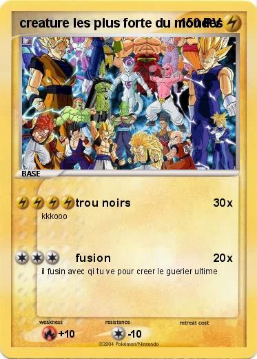 Pokémon Creature Les Plus Forte Du Mondes Trou Noirs Ma Carte