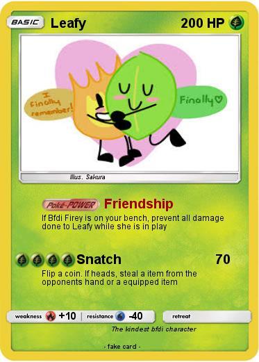 Pokémon Leafy 172 172 - Friendship - My Pokemon Card